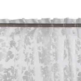 Tenda Fiori grigio fettuccia con passanti nascosti 140x280 cm