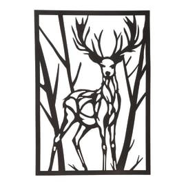 Decorazione da parete Deer Cervo Metal 35x50 cm