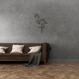 Decorazione da parete Fenicottero Nero 34x50 cm