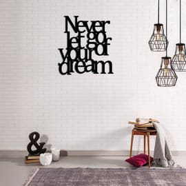 Decorazione da parete Metal Dream Nero 65x70 cm