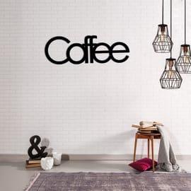 Decorazione da parete Metal Caffee Nero 50x17 cm