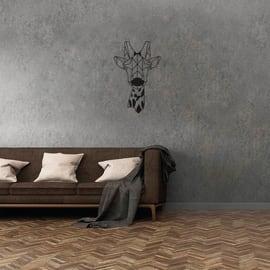 Decorazione da parete Giraffa Nero 50x33 cm
