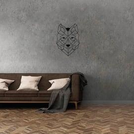 Decorazione da parete Lupo Nero 58x42 cm