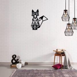 Decorazione da parete Volpe Metal Nero 40x33 cm