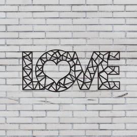 Decorazione da parete Love Nero 50x20 cm