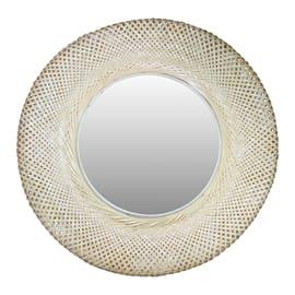 Specchio INSPIRE Utaka tondo naturale 29x29 cm
