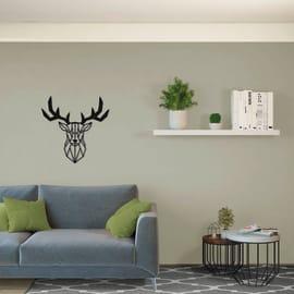 Decorazione da parete Cervo Nero 51x51 cm