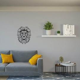 Decorazione da parete Leone Nero 50x40 cm