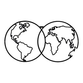Decorazione da parete World Map Metal 60x34 cm
