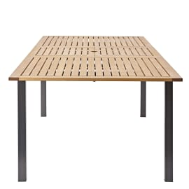 Tavolo da giardino allungabile rettangolare Oris NATERIAL  con piano in Alluminio L 180
