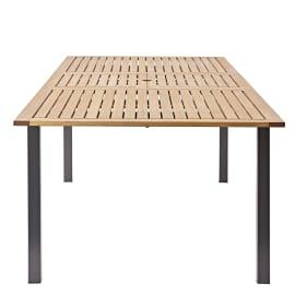 Tavolo da giardino allungabile rettangolare Oris NATERIAL  con piano in Legno L 180 x P 89 cm