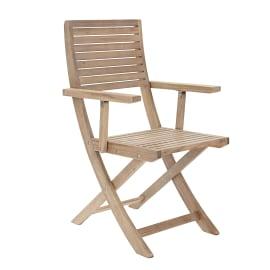 Sedia con braccioli pieghevole in legno NATERIAL colore naturale