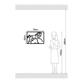 Decorazione da parete Cavallo Metal 50x70 cm