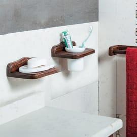 Porta scopino wc a muro Mathilde in ceramica bianco