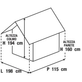 Casetta da giardino in metallo Sofia 2.13 m² spessore 0.27 mm