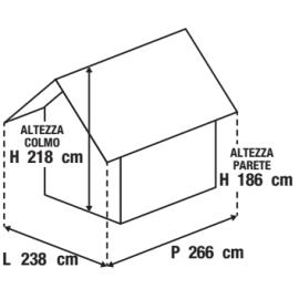 Casetta da giardino in metallo Kiekki 4.33 m² spessore 0.45 mm