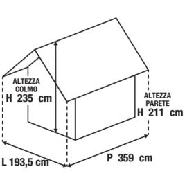 Casetta da giardino in metallo Atlanta 5.78 m² spessore 0.6 mm