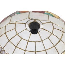 Lampadario 752/40 oro, avorio, rosso, ambra, verde, in madreperla, diam. 40 cm, E27 MAX60W IP20