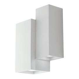 Applique Foster bianco, in gesso, GU10 MAX35W IP20