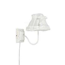 Applique Shabby bianco, in acciaio, E14 MAX40W IP20
