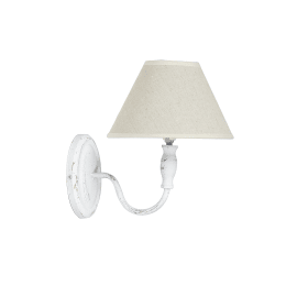 Applique Antonina bianco, in ferro, 20 cm, E14 MAX40W IP20