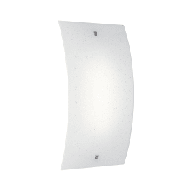 Applique Scinty bianco, in vetro, 25x45 cm, LED integrato 20W