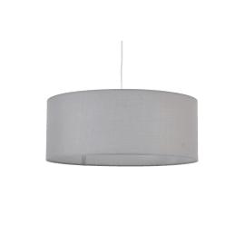 Lampadario Sitia grigio, in tessuto, diam. 48 cm, E27 3xMAX60W IP20 INSPIRE