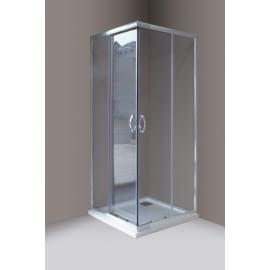 Porta doccia , H 190 cm in vetro temprato, spessore 4 mm trasparente cromato