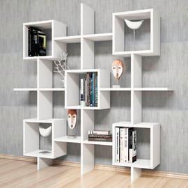 Libreria Irma 7 ripiani L 130 x P 20 x H 130 cm