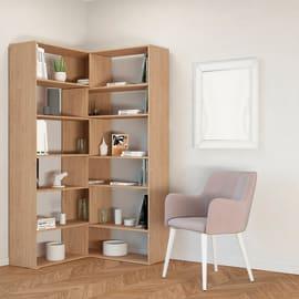 Libreria Twin 6 ripiani L 158 x P 30 x H 179 cm legno