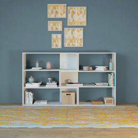 Libreria Twinny 4 ripiani L 158 x P 30 x H 90 cm bianco