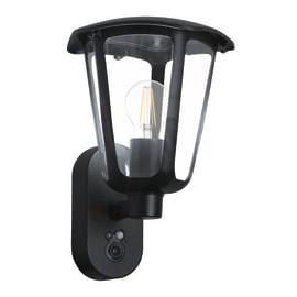 Applique Montevecchio in acciaio, nero, E27 MAX60W IP44 EGLO
