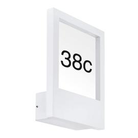 Applique Monteros in alluminio, bianco, E27 MAX40W IP44 EGLO