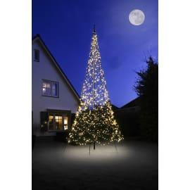 Albero luminoso 1200 lampadine bianco caldo H 600 cm