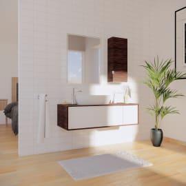 Mobile bagno Neo3 rovere miele e bianco L 120 cm