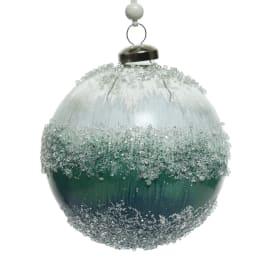 Sfera natalizia in vetro Ø 10 cm confezione da 2 pezzi