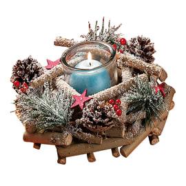 Centrotavola con portacandele in legno  Ø 41 cm