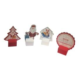 Fermaporta natalizio assortito in legno