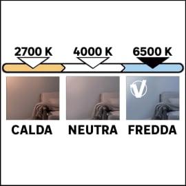Lampadina LED GU10 riflettore bianco freddo 6W = 450LM (equiv 50W) 100° LEXMAN