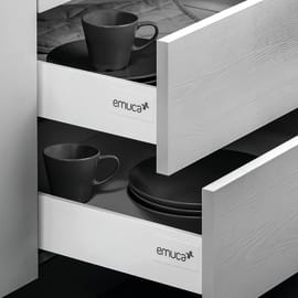 Cassetto EMUCA Vantage-Q chiusura soft L 1 x H 14.1 x P 45 cm bianco