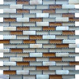 Mosaico BEIGE 15X48 H 0.8 x L 30 cm beige - sabbia