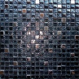 Mosaico Acero H 0.8 x L 30 cm nero - acciaio