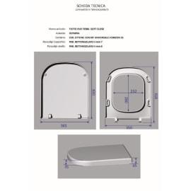 Copriwater quadrato Tuttoevo bianco