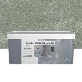 Fondo/primer per effetto decorativo Stonewashed 1.5 l grgio serpentino effetto cemento