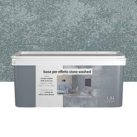 Fondo/primer per effetto decorativo Stonewashed 1.5 l grgio zaffiro effetto cemento