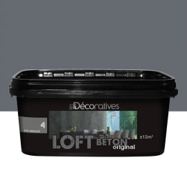 Pittura ad effetto decorativo ID Loft Original 2 l grigio cape town effetto cemento