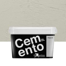 Pittura decorativa Cemento 2 l grigio 2 effetto cemento