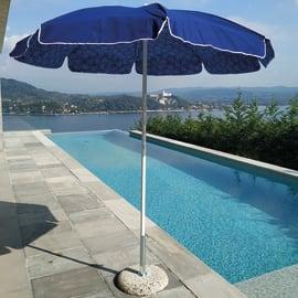 Ombrellone NATERIAL Trieste L 1.85 x P 1.85 m color blu