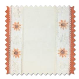 Tessuto al taglio Brunei arancione 60 cm