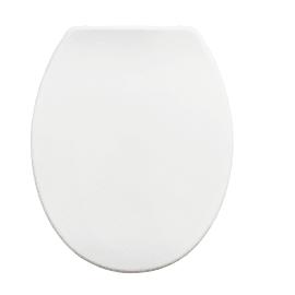 Copriwater ovale Universale Easy SENSEA plastica termoindurente bianco